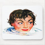 Retro Vintage Kitsch Keep Your Head Above Water Mouse Pads