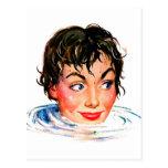 Retro Vintage Kitsch Keep Your Head Above Water Postcard