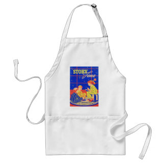 Retro Vintage Kitsch Kid Childrens Book Story Time Adult Apron