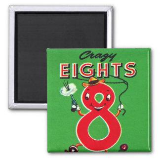 Retro Vintage Kitsch Kids Card Game Crazy Eights Magnet
