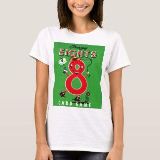 Retro Vintage Kitsch Kids Card Game Crazy Eights T-Shirt