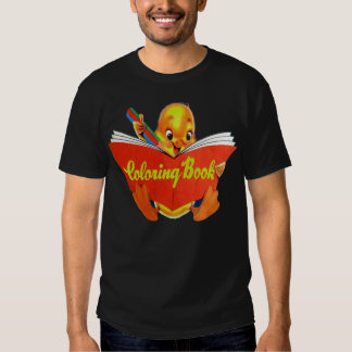 Retro Vintage Kitsch Kids Coloring Book Ducky Shirt