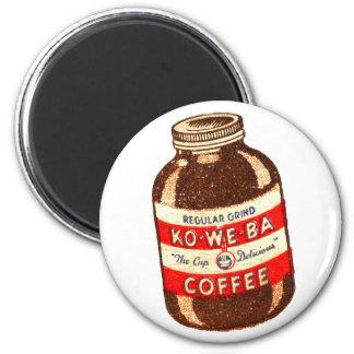 Retro Vintage Kitsch Ko-We-Ba Coffee Magnet
