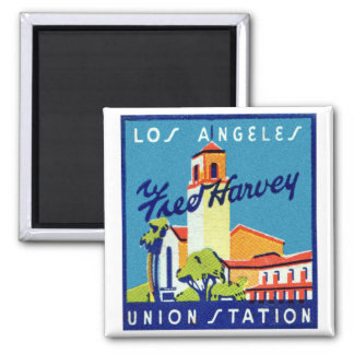 Retro Vintage Kitsch LA Union Station Fred Harvey Magnet