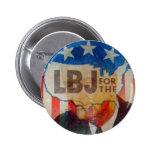 Retro Vintage Kitsch LBJ Flasher Political Button