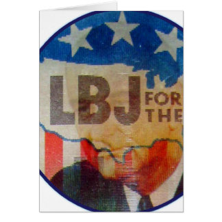 Retro Vintage Kitsch LBJ Flasher Political Button Card