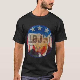 Retro Vintage Kitsch LBJ Flasher Political Button T-Shirt