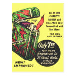 Retro Vintage Kitsch Lighter Your Name Here Ad Post Cards