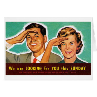 Retro Vintage Kitsch Looking for You on Sunday! Cards