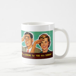 Retro Vintage Kitsch Looking for You on Sunday! Mugs