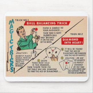 Retro Vintage Kitsch Magic 'Magic Tricks Ad' Mouse Pad