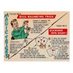 Retro Vintage Kitsch Magic 'Magic Tricks Ad' Postcards