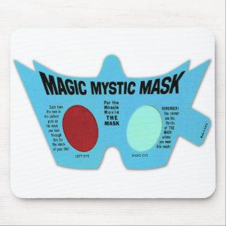 Retro Vintage Kitsch Magic Mystic Mask 3D Glasses Mouse Pad