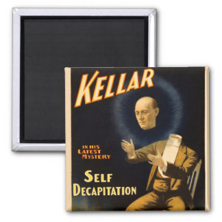 Retro Vintage Kitsch Magic Self Decapitation Magnet