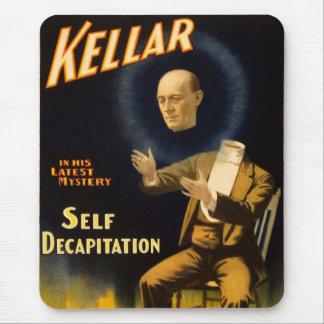 Retro Vintage Kitsch Magic Self Decapitation Mouse Pad