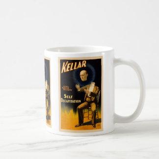 Retro Vintage Kitsch Magic Self Decapitation Classic White Coffee Mug