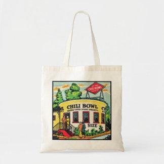Retro Vintage Kitsch Matchbook Chili Bowl Cafe Tote Bag