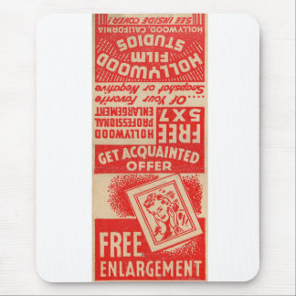 Retro Vintage Kitsch Matchbook FREE ENLARGMENTS! Mouse Pad