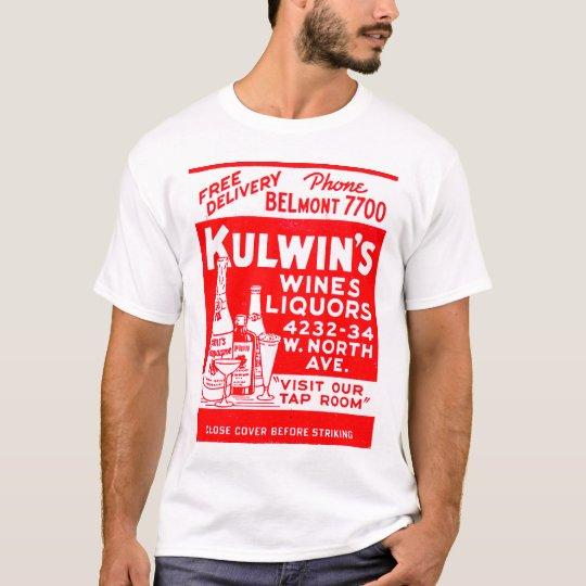 Retro Vintage Kitsch Matchbook Kulwin's Liquors T-Shirt