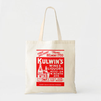 Retro Vintage Kitsch Matchbook Kulwin's Liquors Tote Bag