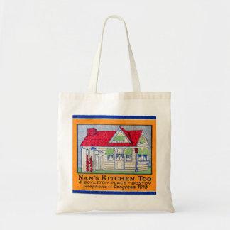 Retro Vintage Kitsch Matchbook Nan's Kitchen Diner Tote Bag
