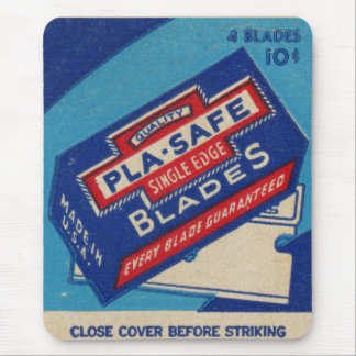 Retro Vintage Kitsch Matchbook PLA-SAFE Razor Mouse Pad