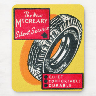 Retro Vintage Kitsch Matchbook Tire Ad McCreary Mouse Pad