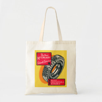 Retro Vintage Kitsch Matchbook Tire Ad McCreary Tote Bag