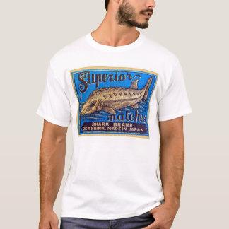 Retro Vintage Kitsch Matches Superior Shark Brand T-Shirt