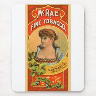 Retro Vintage Kitsch McRae Fine Tobacco Girl Mouse Pad