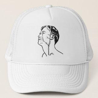 Retro Vintage Kitsch Medical Head Veins Arteries Trucker Hat