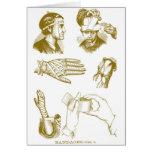 Retro Vintage Kitsch Medical Illustration Bandages Greeting Card