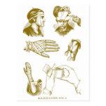 Retro Vintage Kitsch Medical Illustration Bandages Postcard