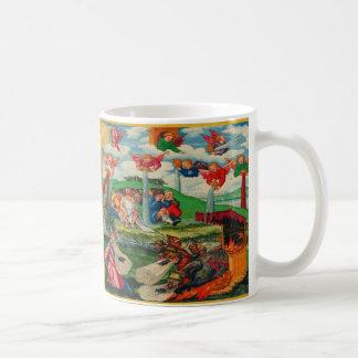 Retro Vintage Kitsch Medieval Plague Rats & Angels Coffee Mug