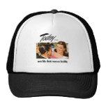 Retro Vintage Kitsch Men Like Their Women Heathly Trucker Hat