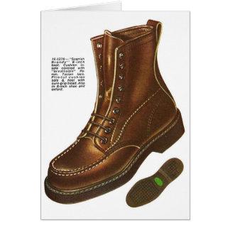 Retro Vintage Kitsch Mens Das Boot Ad Illustration Card
