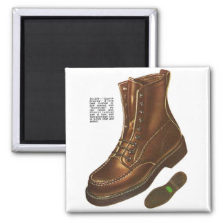 Retro Vintage Kitsch Mens Das Boot Ad Illustration Magnet