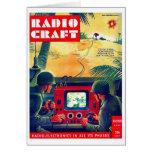 Retro Vintage Kitsch Military Radio Craft TV War Greeting Cards