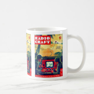 Retro Vintage Kitsch Military Radio Craft TV War Coffee Mug