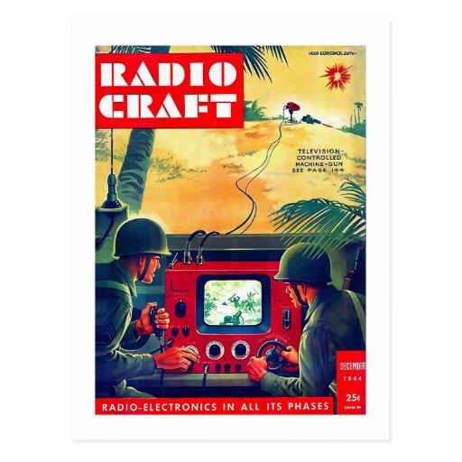 Retro Vintage Kitsch Military Radio Craft TV War Postcards