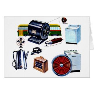 Retro Vintage Kitsch Modern Appliances Greeting Card