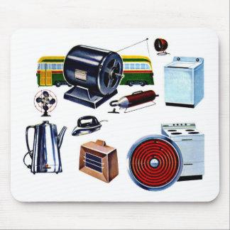 Retro Vintage Kitsch Modern Appliances Mouse Pad