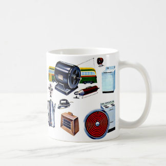 Retro Vintage Kitsch Modern Appliances Classic White Coffee Mug