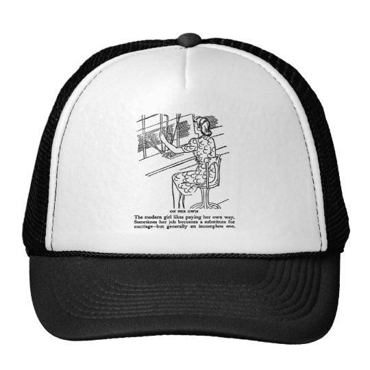 Retro Vintage Kitsch Modern Work Girl Not Complete Trucker Hat