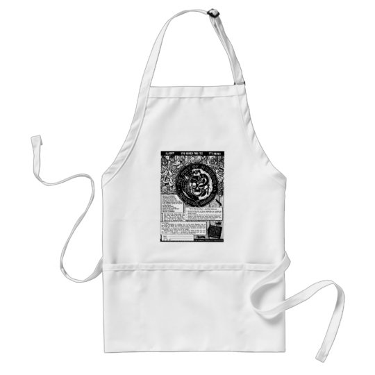 Retro Vintage Kitsch Monster Cult of Horror Club Adult Apron