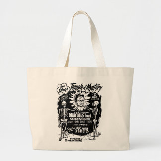 Retro Vintage Kitsch Monster Temple of Mystery Tote Bags