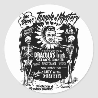 Retro Vintage Kitsch Monster Temple of Mystery Stickers