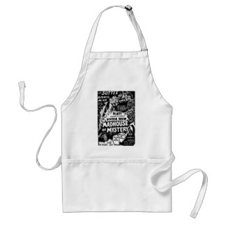 Retro Vintage Kitsch Monsters Madhouse of Mystery Adult Apron