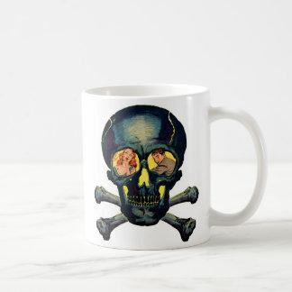 Retro Vintage Kitsch Monsters 'Skull' Comic Coffee Mug