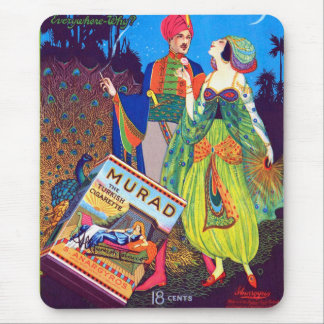 Retro Vintage Kitsch Murad Turkish Cigarettes Ad Mouse Pad